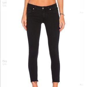 Paige Black Verdugo Raw Hem Jeans